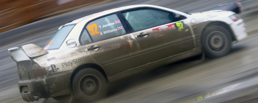 Thermex Sponsored Rally Car