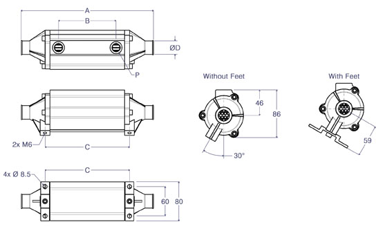 Gearbox Oil Cooler Line Drawing